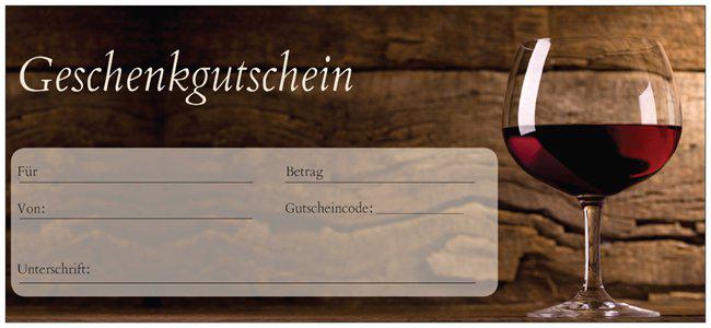 Gutschein für Wein