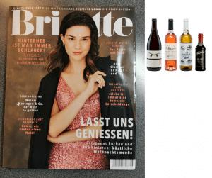 Brigitte Ausgabe 2.12.20 – Vier feine Weine fürs Festessen